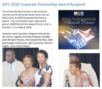 MCC 2018 Corporate Partnership Award Recipient
